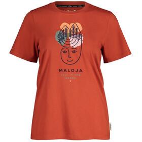 Maloja LöwenzahnM. SS T-shirt Damer, rød